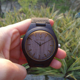 Ebony 08H - Wood watches by Mydeer | Engraved Handmade wood and bamboo watches