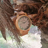 Bamboo Cafe 16A - Wood watches by Mydeer | Engraved Handmade wood and bamboo watches