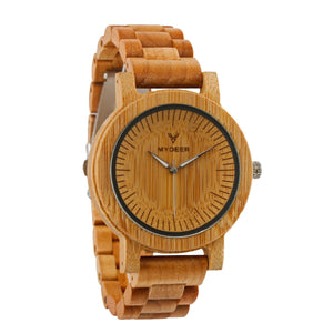 Bamboo Cavern 04O - Wood watches by Mydeer | Engraved Handmade wood and bamboo watches