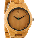 Bamboo Green 26G - Wood watches by Mydeer | Engraved Handmade wood and bamboo watches