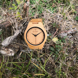Bamboo Pure 19D - Wood watches by Mydeer | Engraved Handmade wood and bamboo watches