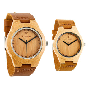Bamboo Pure - Wood watches by Mydeer | Engraved Handmade wood and bamboo watches