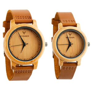 Bamboo Pure 02 - Wood watches by Mydeer | Engraved Handmade wood and bamboo watches