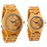 Bamboo Deer - Wood watches by Mydeer | Engraved Handmade wood and bamboo watches