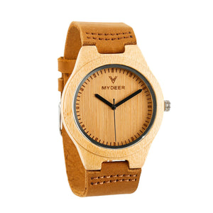 Bamboo Pure Small 36A - Wood watches by Mydeer | Engraved Handmade wood and bamboo watches