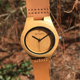 Bambo Pure Thick - Wood watches by Mydeer | Engraved Handmade wood and bamboo watches