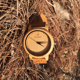 Bamboo Thin Small 10A - Wood watches by Mydeer | Engraved Handmade wood and bamboo watches