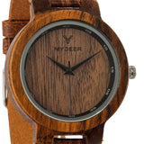 Zebra Cafe 22D - Wood watches by Mydeer | Engraved Handmade wood and bamboo watches