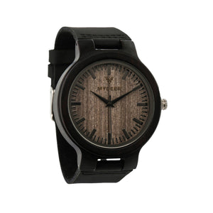 Ebony Wide 26C - Wood watches by Mydeer | Engraved Handmade wood and bamboo watches