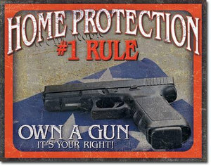 "Home Protection - #1 Rule  16""Wx12.5""H"