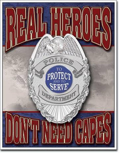 "Real Heros Police 12.5""W X 16""H"