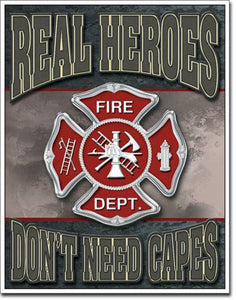 "Real Heroes - Firemen 12.5""Wx16""H"