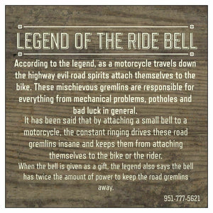 LIVE TO RIDE DELUXE RIDE BELL