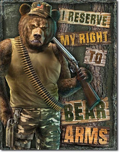 "Right to Bear Arms 12.5""Wx16""H"