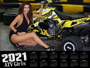 2021 ATV GIRLS CALENDAR WITH FREE POSTER