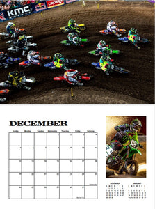 2021 MOTOCROSS CALENDAR WITH FREE POSTER