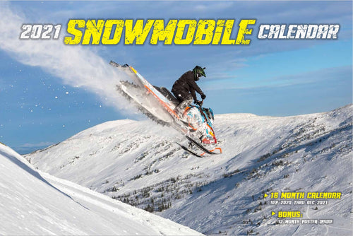 2021 SNOWMOBILE CALENDAR WITH FREE POSTER
