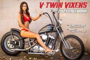 2021 V-TWIN VIXENS CALENDAR WITH FREE POSTER