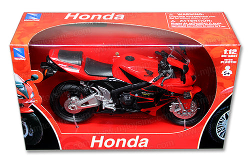 1:12 2006 RED HONDA CBR600RR SPORT BIKE WITH FREE ROAD RASH WRISTBAND