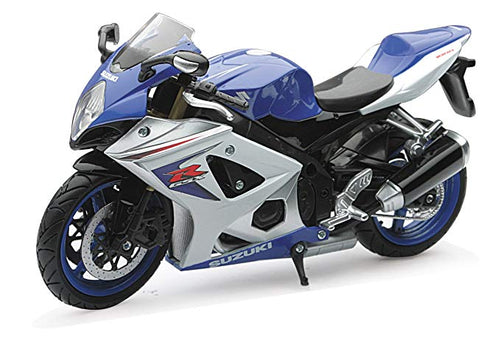 1:12 2008 BLUE AND WHITE SUZUKI GSX-R1000 WITH FREE ROAD RASH WRISTBAND
