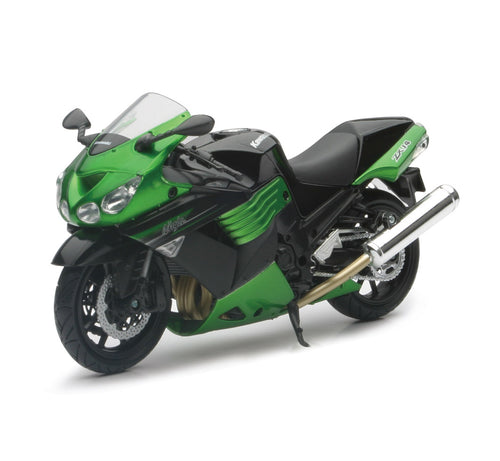 1:12 GREEN 2011 KAWASAKI SPORT BIKE ZX-14 WITH FREE ROAD RASH WRISTBAND