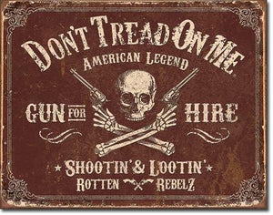 "DTOM GUN FOR HIRE 16""x12.5"""