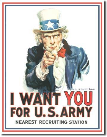 Uncle Sam I Want You 12.5