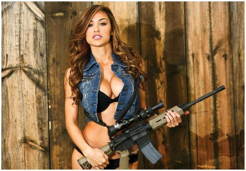 ANA CHERI WITH AR-15 GUNS & GIRLS POSTER