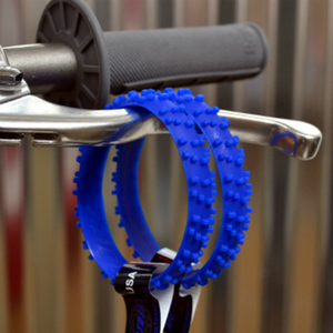 MOTOCROSS BLUE KNOBBY DIRT BIKE TIRE WRISTBAND