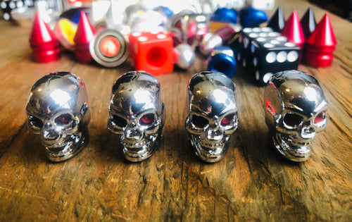 Chrome SKULL KUSTOM KAPZ 4 PACK
