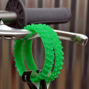MOTOCROSS GREEN KNOBBY DIRT BIKE TIRE WRISTBAND