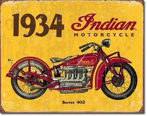 "1934 Indian 16""W x 12.5""H"