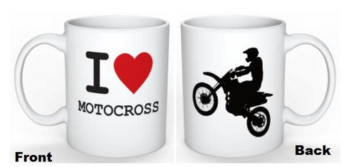 I LOVE MOTOCROSS COFFEE MUG