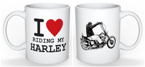 I LOVE RIDING MY HARLEY COFFEE MUGS