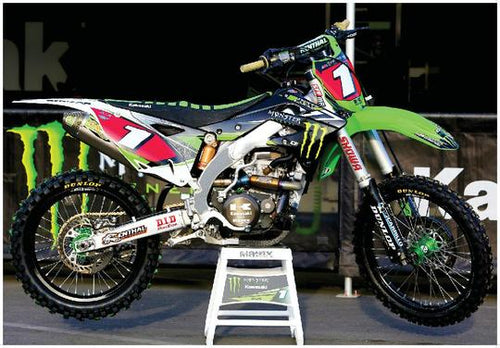 MONSTER ENERGY SUPERCROSS RACE BIKE GIANT POSTER