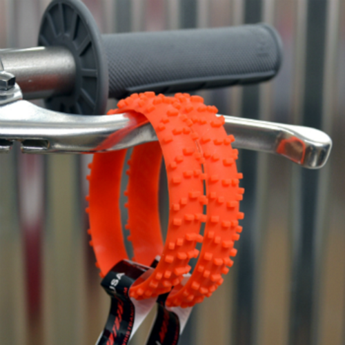 MOTOCROSS ORANGE KNOBBY DIRT BIKE TIRE WRISTBAND