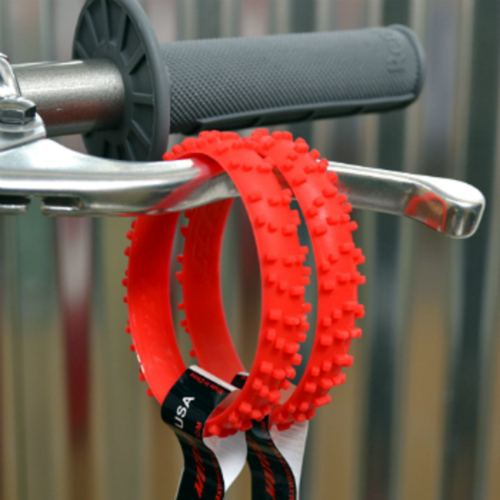 MOTOCROSS RED KNOBBY DIRT BIKE TIRE WRISTBAND