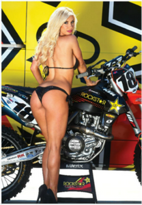 ROCKSTAR KTM RACE BIKE W/ PIN UP GIRL POSTER