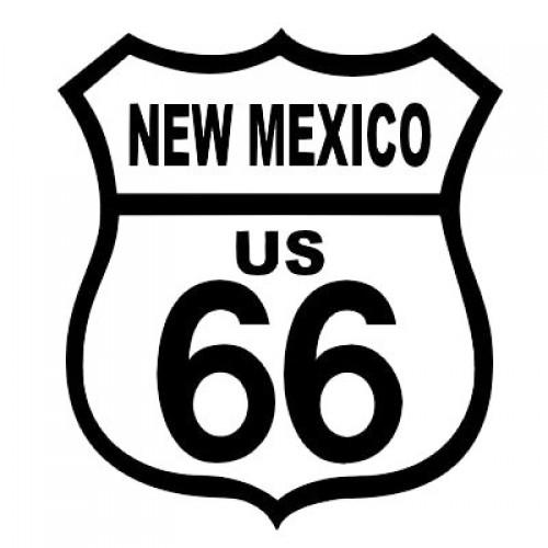 ROUTE 66 NEW MEXICO BLACK ON WHITE PATCH
