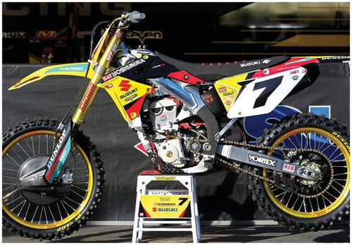 SUZUKI RMZ-450 MOTORCYCLE DIRT BIKE POSTER