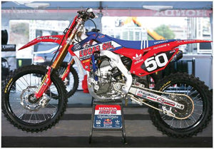 TROY LEE DESIGNS HONDA CRF250 SUPERCROSS RACE BIKE POSTER