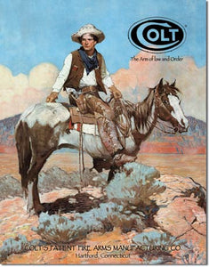 Desperate 3 Pack COLT Vintage Sign Set Made in USA! Firearms Western\# 1594\ # 1592\ # 1609