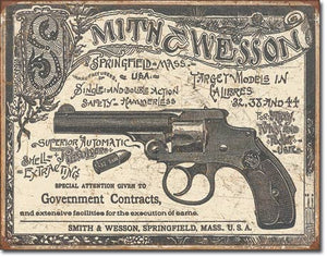 Desperate 3 Pack SMITH AND WESSON Vintage Sign Set Made in USA! Firearms Western\# 1876\# 1743\ # 2014