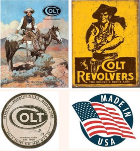 Desperate 3 Pack COLT Vintage Sign Set Made in USA! Firearms Western\# 1594\ # 1789\ # 1609