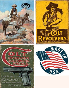 Desperate 3 Pack COLT Vintage Sign Set Made in USA! Firearms Western\ # 1594\ # 1789\ # 1592