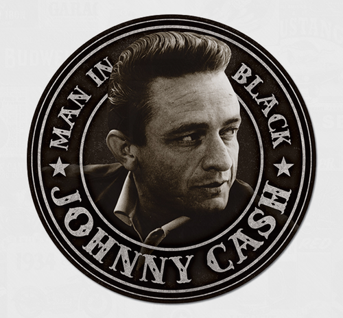 Cash - Man in Black Round