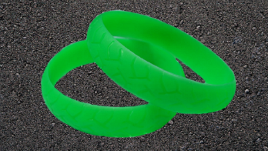 GREEN ROAD RASH BIKER WRISTBAND