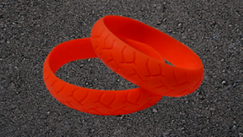 ORANGE ROAD RASH BIKER WRISTBAND
