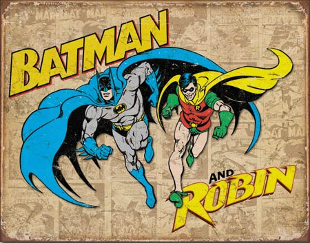 Batman and Robin Weathered