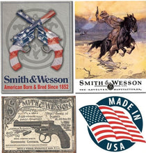 Desperate 3 Pack SMITH AND WESSON Vintage Sign Set Made in USA! Firearms Western\ # 1465\ # 1876\ # 2014